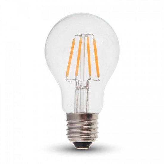 LED Крушка 4W E27 A60 Filament Прозрачна 6400K