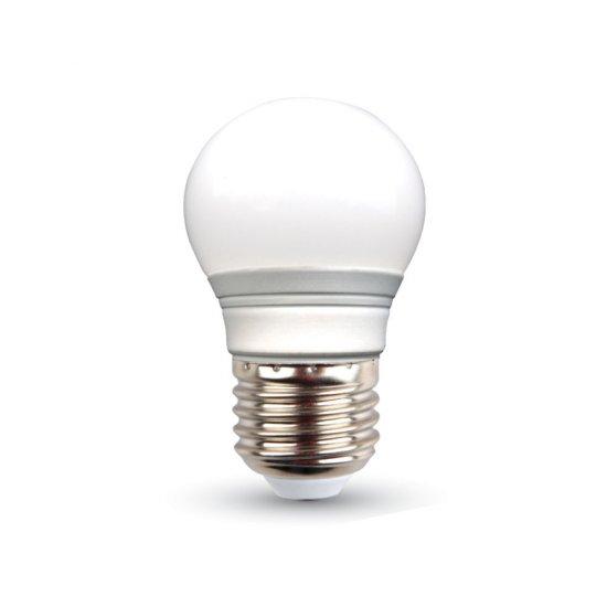 LED Крушка 3W E27 Сфера Термо Пластик 6000K