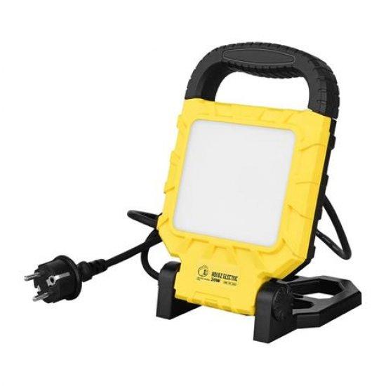 LED прожектор на стойка 20W 6400K IP54 жълт/черен