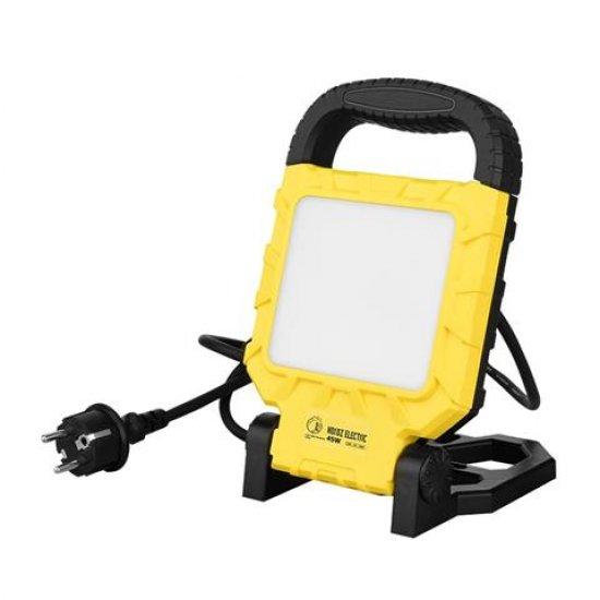 LED прожектор на стойка 45W 6400K IP54 жълт/черен