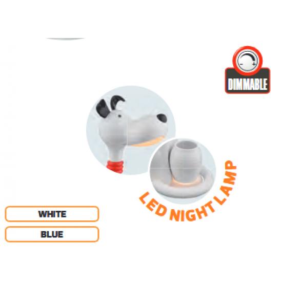 LED Детска Настолна Лампа Куче 6W 350Lm димируема Бяла