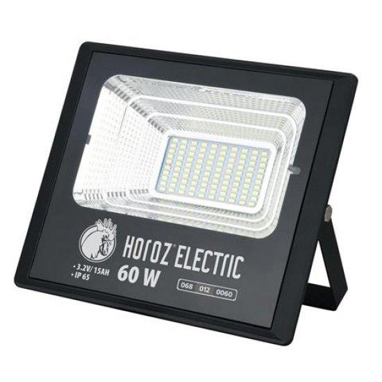 LED соларен прожектор 60W 6400K IP65 черен