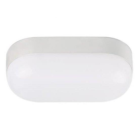 LED аплик 15W 4200K влагозащитен IP65 бял