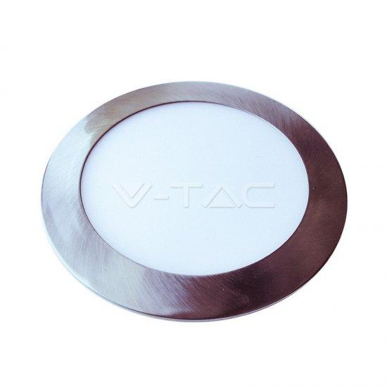 LED Панел Slim Кръг 6W 6400K Ф120мм Сатен Никел