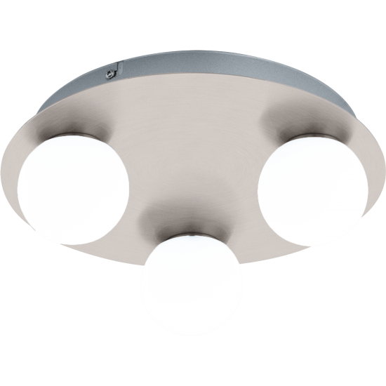 LED плафон за баня MOSIANO 3х3.3W 3000К 3х340Lm IP44 мат хром кръг