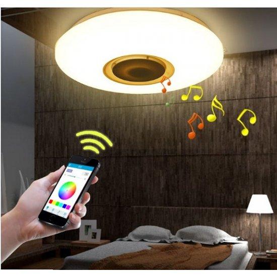 LED Плафон с музика BLUETOOTH 36W 4000К IP20