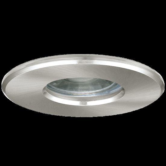 LED Влагозащитена луна сатен никел IGOA Ф85 IP44