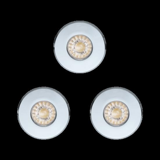 LED Влагозащитена луна хром IGOA Ф85 комплект IP44