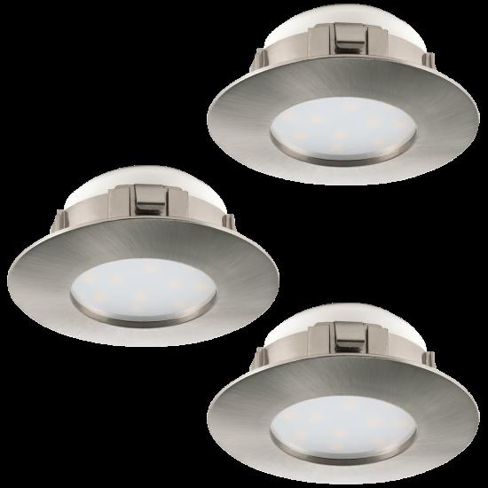 LED Луна влагозащитена сатен никел PINEDA Ф78 комплект IP44