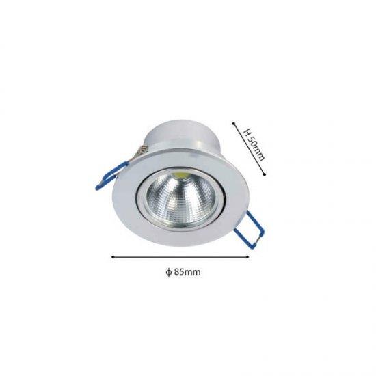 LED Луна за вграждане HILUX FTS 5W Sv 4500K