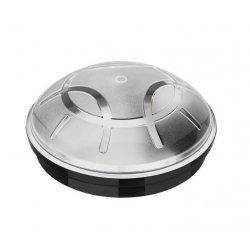 Плафон влагозащитен Aqua Eko E27 max 26W ESL IP65 ф23см черен