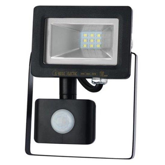 LED прожектор със сензор SMD 10W 6400K IP65 черен