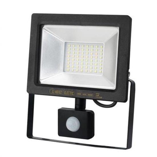 LED прожектор със сензор SMD 50W 6400K IP65 черен