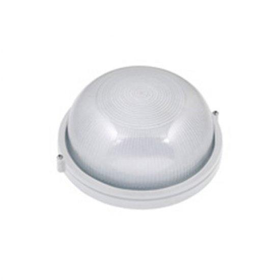 Влагозащитено тяло метално бяло IP54 E27 60W