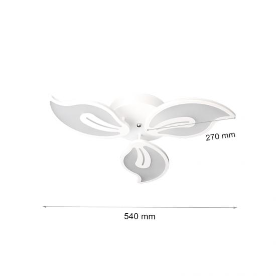 LED полилей 6003/3 40W 3-white димируем с дистанционно управление бял
