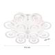 LED полилей 6015/12 192W 3-white димируем с дистанционно управление бял