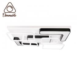 LED полилей 6110/L 198W 3-white димируем с дистанционно управление черно и бяло