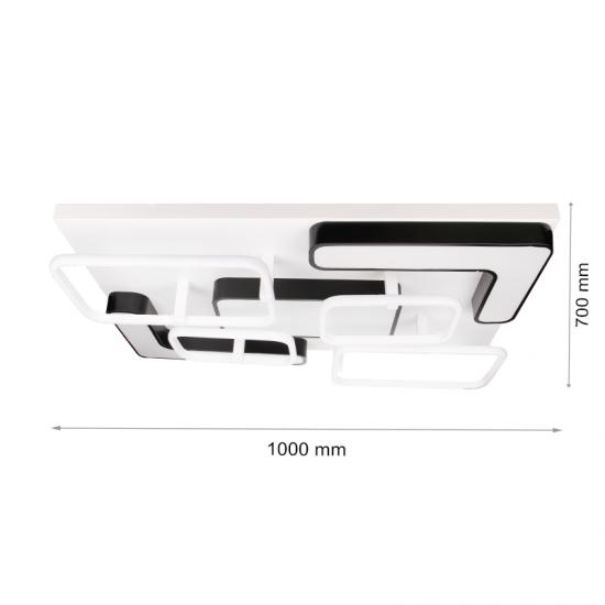 LED полилей 6113/L 198W 3-white димируем с дистанционно управление черно и бяло