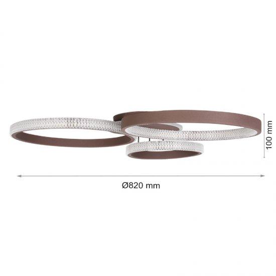 LED полилей 6601/3 80W 3-white димируем с дистанционно управление кафе
