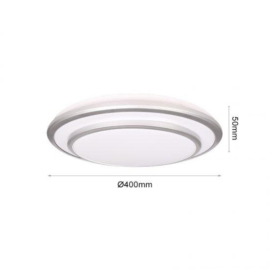 LED плафон 8312A 24W  3-white ф40см IP20 бял
