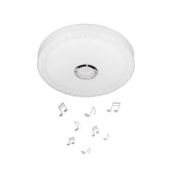 LED музикален плафон с Bluetooth и дистанционно LY-6121 24W RGB 3-white ф39см IP20 бял