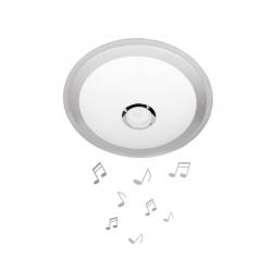 LED музикален плафон с Bluetooth и дистанционно LY-6123 24W RGB 3-white ф43см IP20 бял