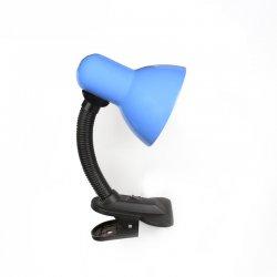 Настолна лампа на щипка 6661 Е27 max 40W синя