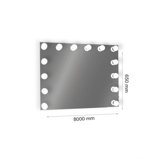 LED огледало E27 15х3W 6400K USB port димируемо + адаптор 12V