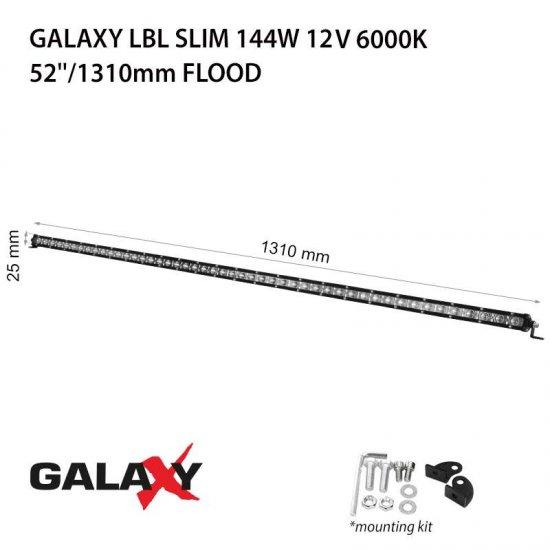 LED Offroad осветител Galaxy BAR LBL Slim 144W 6000K 10800Lm IP67 12-24V flood