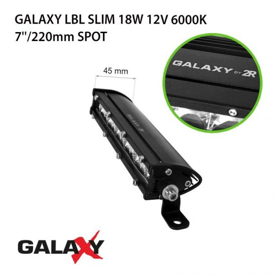 LED Offroad осветител Galaxy BAR LBL Slim 18W 6000K 1350Lm IP67 12-24V spot