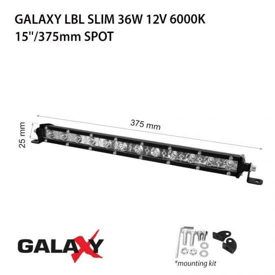 LED Offroad осветител Galaxy BAR LBL Slim 36W 6000K 2700Lm IP67 12-24V spot