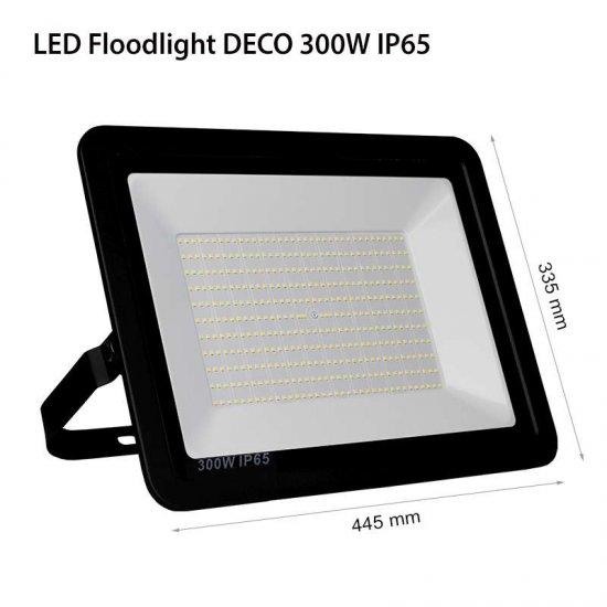 LED Прожектор Deco 300W 6000K 30000Lm IP65 черен