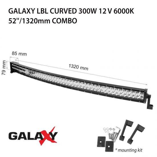 LED Offroad осветител Galaxy BAR Curved 300W 6000K 22500Lm IP67 12-24V combo