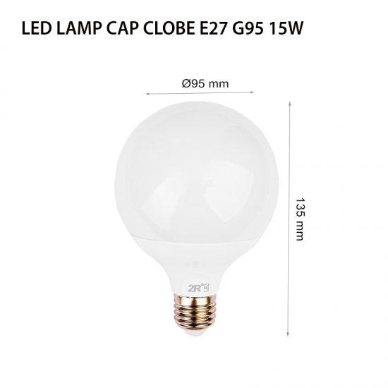 LED крушка CAP Globe G95 15W E27 4000K 1200Lm