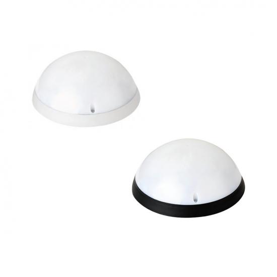 LED плафон влагозащитен с микровълнов сензор 360° 12W 6400K IP54 ф24см бял