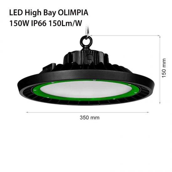 LED промишлен осветител тип камбана Olimpia 150W 5000K 21000Lm IP66 димируем