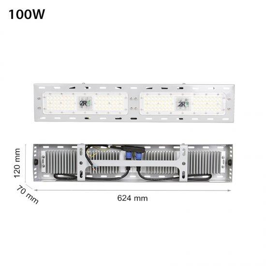 LED промишлен осветител Linear 100W 5000K 12000Lm IP65