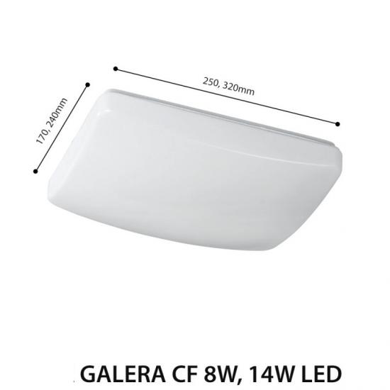 LED плафон Galera CF  8W 4500K 800Lm IP54