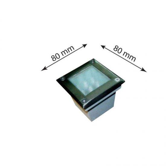 LED Луна подова Nel 020 IP67 2W червена светлина 200Lm 220V