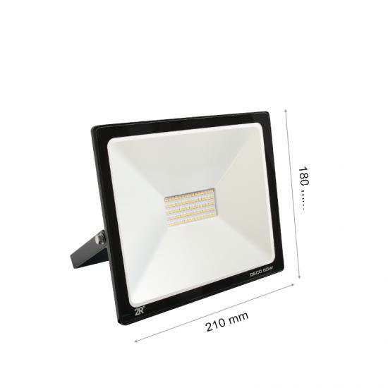 LED Прожектор Deco 50W 6000K 5000Lm IP65 черен