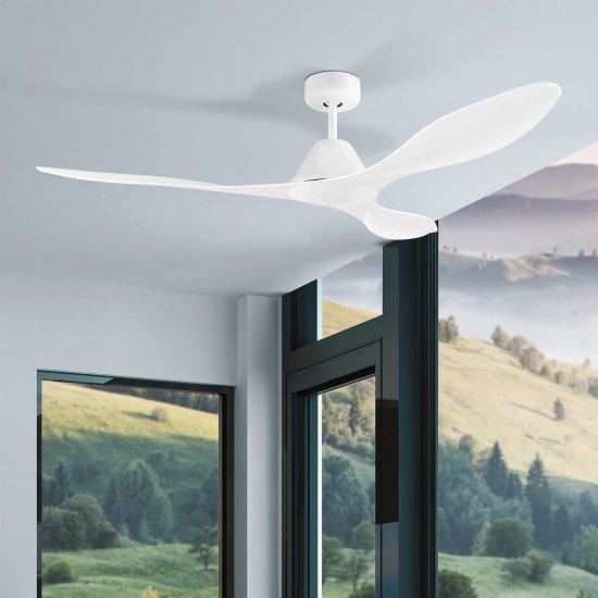 Вентилатор за таван ANTIBES 45W Ø132см бял + дистанционно управление
