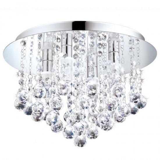 LED плафон за баня ALMONTE IP44 G9 4x3W 3000K 4х360Lm хром + кристал