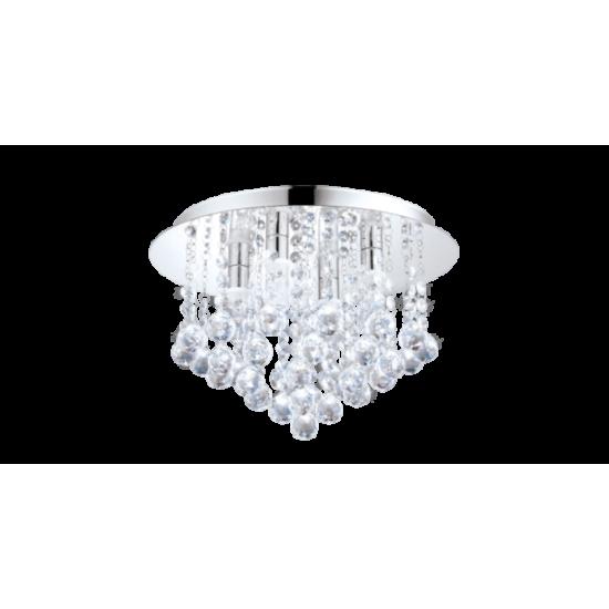 LED плафон за баня ALMONTE IP44 G9 8x3W 3000K 8х360Lm хром + кристал
