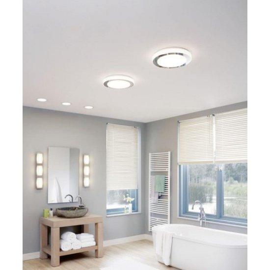 LED плафон за баня CARPI IP44 16W 3000K 1500Lm хром + бяло