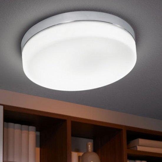 LED плафон за баня LORA IP54 16W 3000K 1500Lm хром + опал