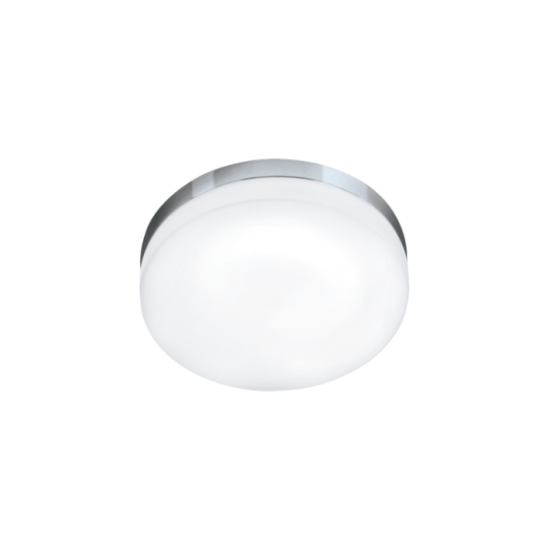 LED плафон за баня LORA IP54 24W 3000K 2100Lm хром + опал