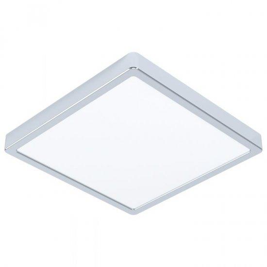 LED плафон за баня FUEVA 5 IP44 20W 3000K 2300Lm квадратен хром