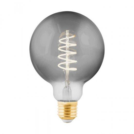 LED крушка Filament G95 Е27 4W 2000К 100Lm опушена димируема