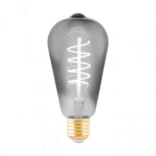 LED крушка Filament ST64 Е27 4W 2000К 100Lm опушена димируема