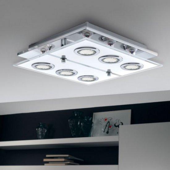 LED плафониера CABO 6хGU10 6x3W 3000K 6x240Lm IP20 хром